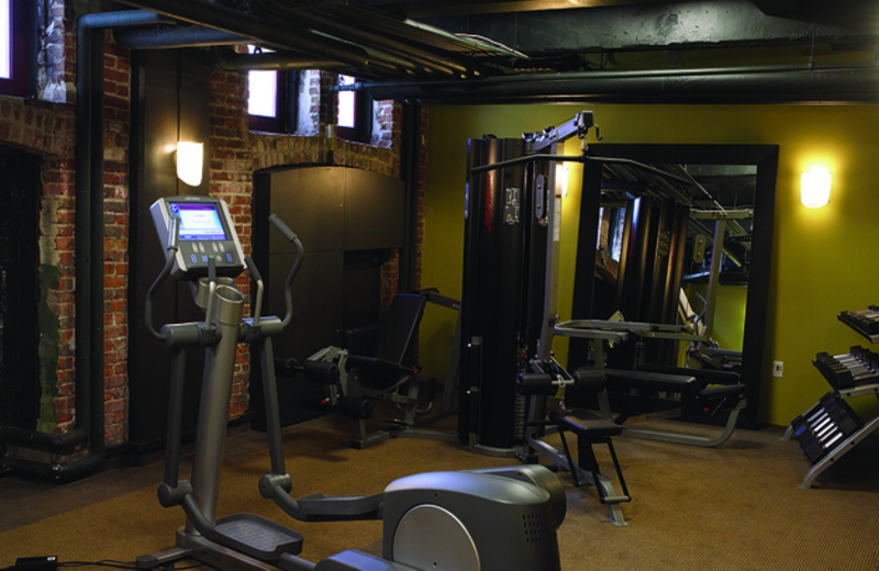 Fitness room at Groupe Germain.