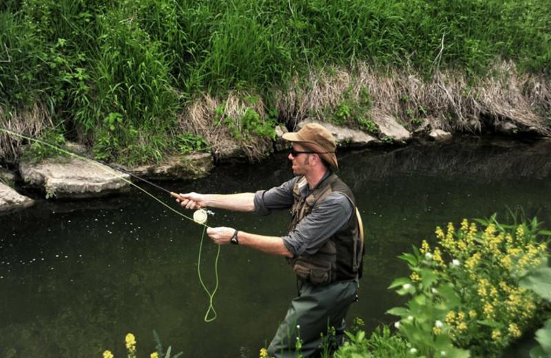 Fishing at Cedar Valley Resort.