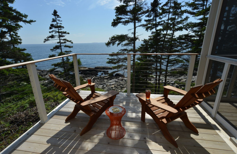 Cabin deck at Newagen Seaside Inn.