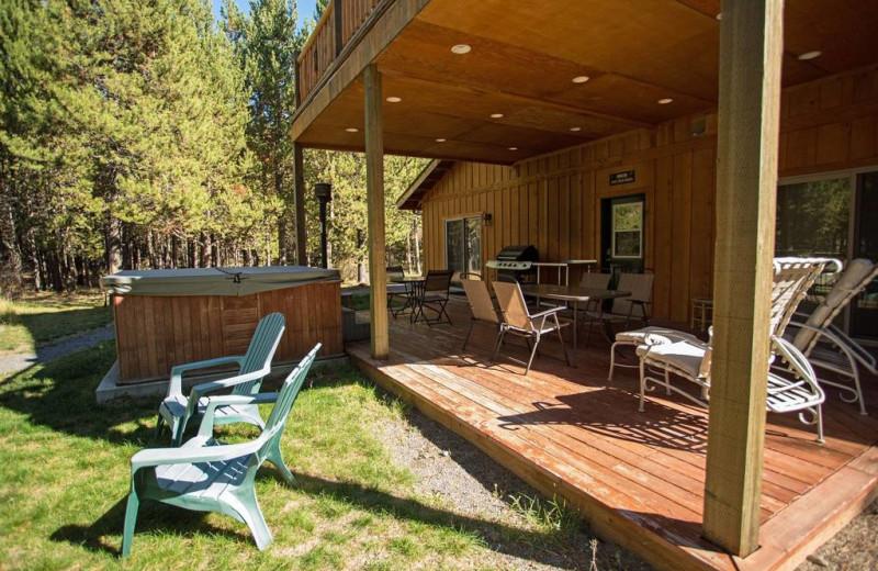 Guest porch at DiamondStone Guest Lodges.