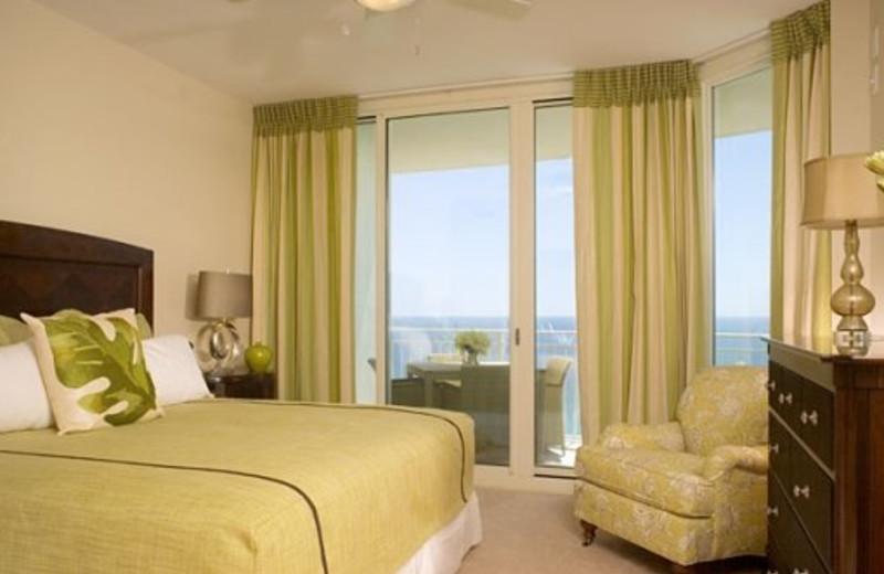 Guest room at Aqua Beach Condos & Vacation Resort.