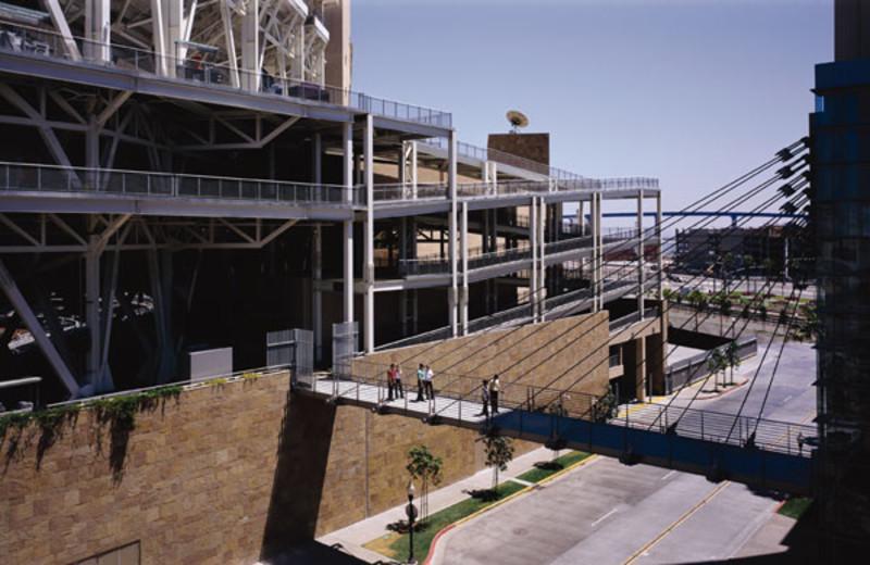 Skybridge to PETCO Park at Omni San Diego Hotel.