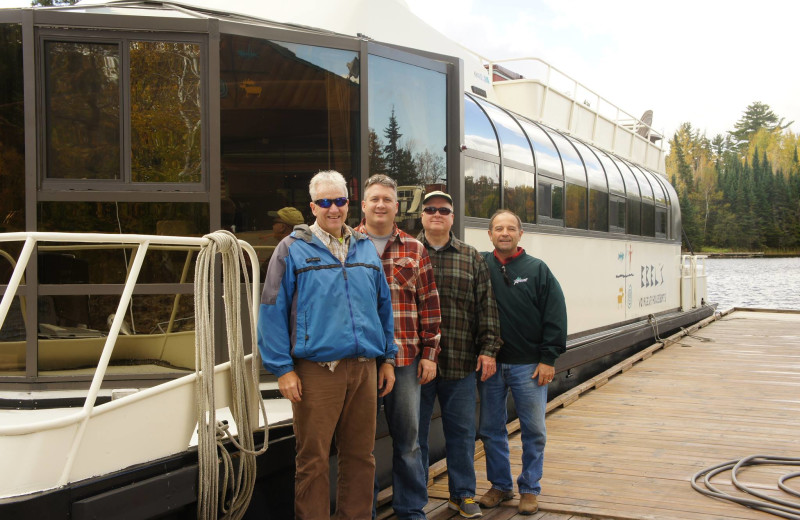 Group at Ebel's Voyageur Houseboats.