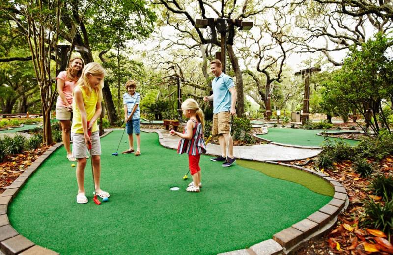 Mini golf at Omni Amelia Island Plantation.