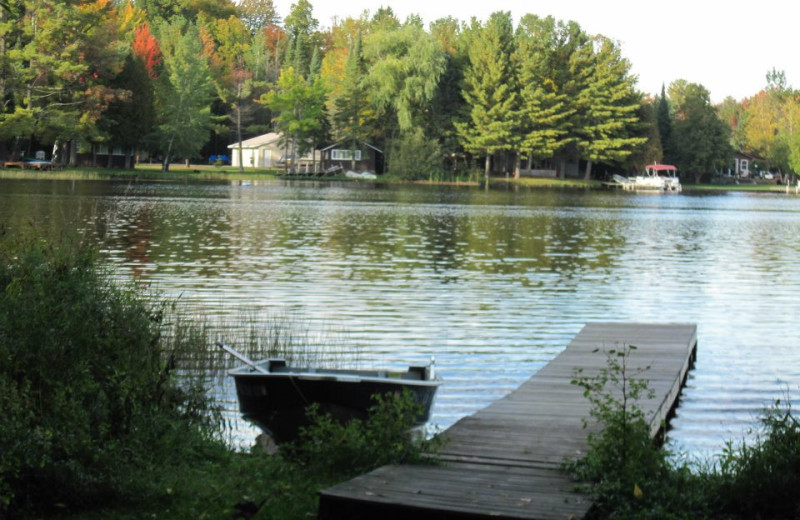Dock view at Holiday Acres Resort.