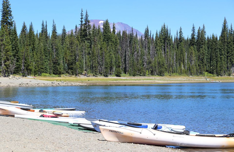 Beach at Elk Lake Resort.