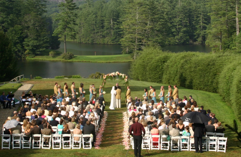 Weddings at High Hampton Resort.