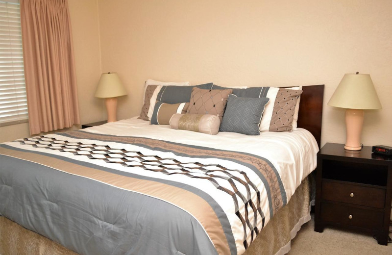 Rental bedroom at Beachhouse Vacation Rentals.