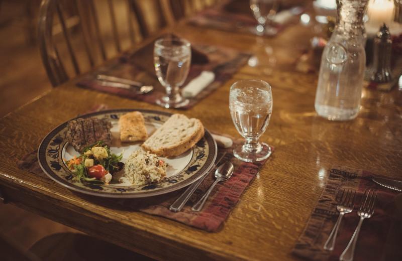 Dining at Vee Bar Guest Ranch.
