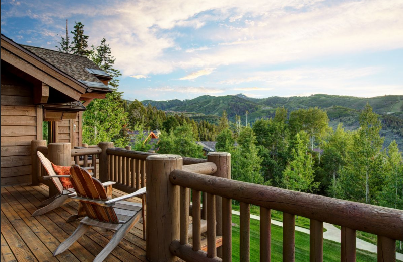 Vacation Rental Deck At SkyRun Rentals