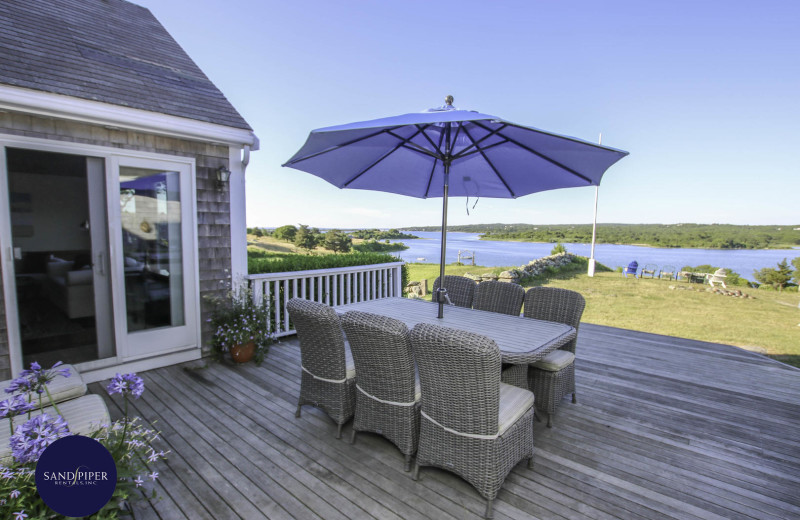 Rental deck at Sandpiper Rentals.