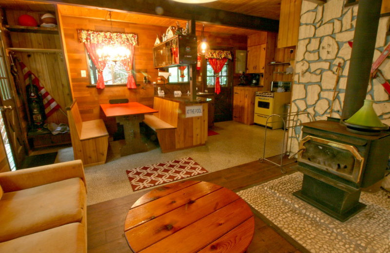 Cabin interior at Mt. Baker Lodging.