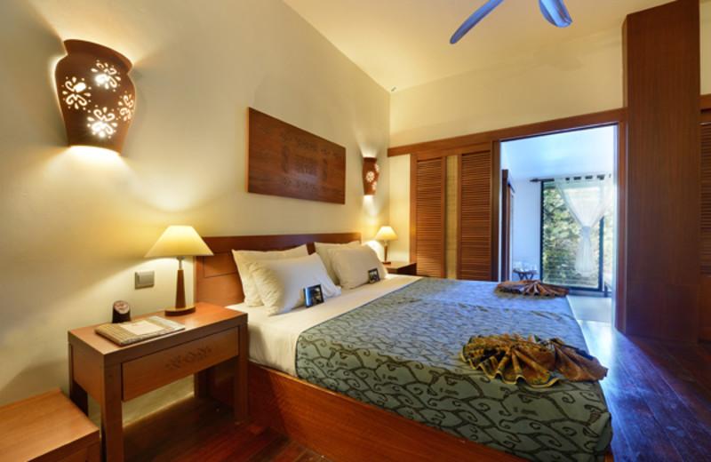 Guest room at Sukau Rainforest Lodge.