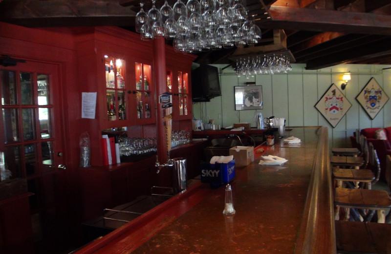 The bar at High Hampton Inn.