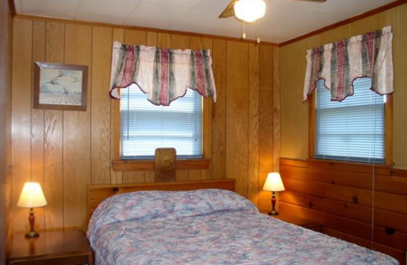 Cabin bedroom at Four Seasons Resort.