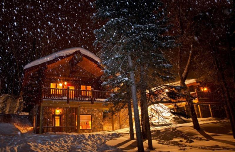 Winter time at Aqua Log Cabin Resort.
