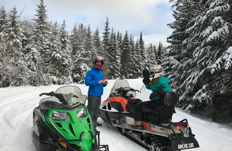 Snowmobiling at North Conway Lodging.