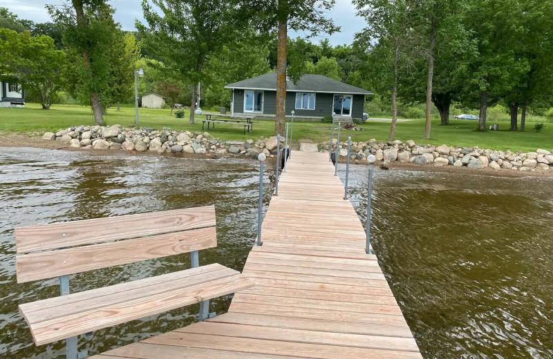 Rental dock at Lakes Area Rentals.