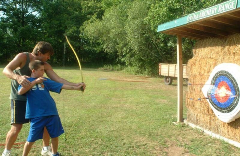 Archery practice at Chestnut Grove Resort.