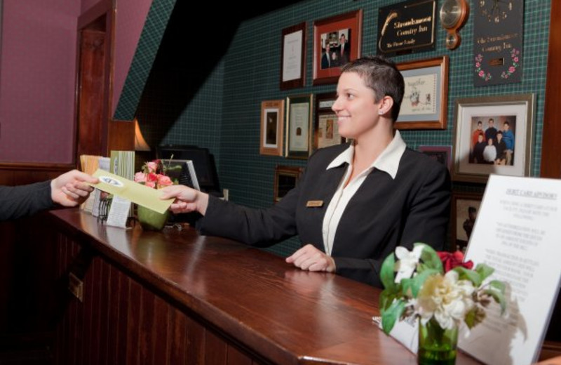 Front desk service at Stroudsmoor Country Inn.