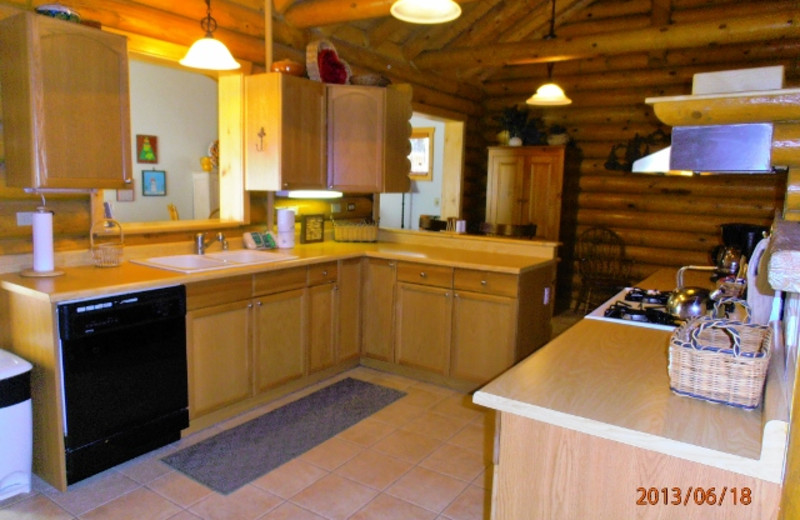 Rental kitchen at Resort Properties of Angel Fire.