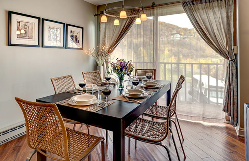 Rental dining room at Bear Claw Condominiums.