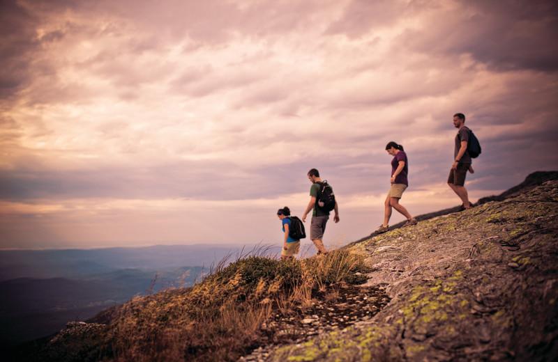 Hiking at Smugglers' Notch Resort.