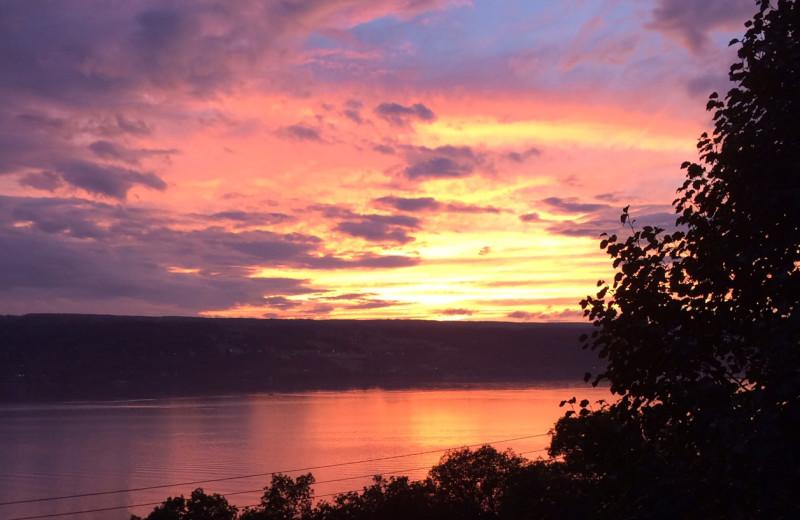 Sunset at Clifftop On Seneca.