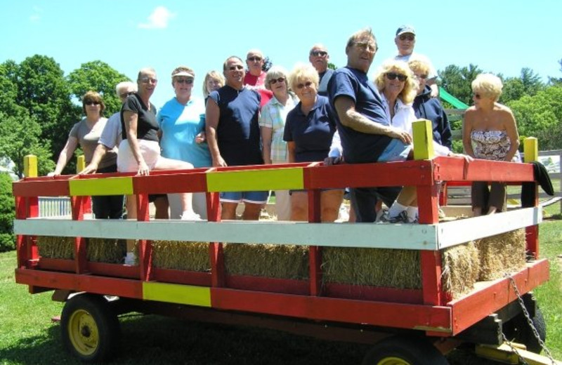 Hay Rides at Wolff's Maple Breeze Resort