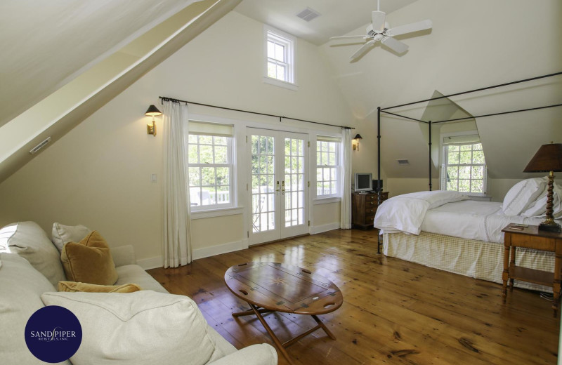 Rental bedroom at Sandpiper Rentals.