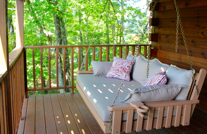Relaxing porch swing