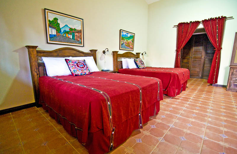 Guest beds at Casa Vieja Lodge.