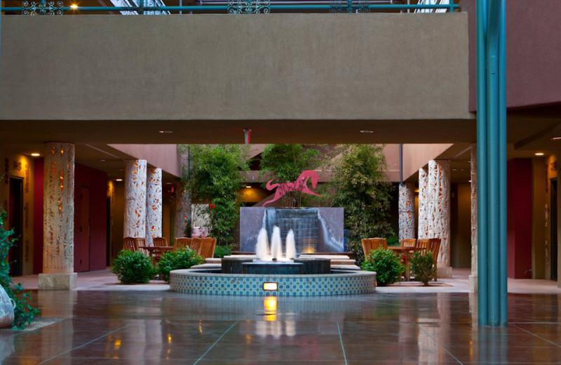 Lobby area at Sedona Rouge Hotel.
