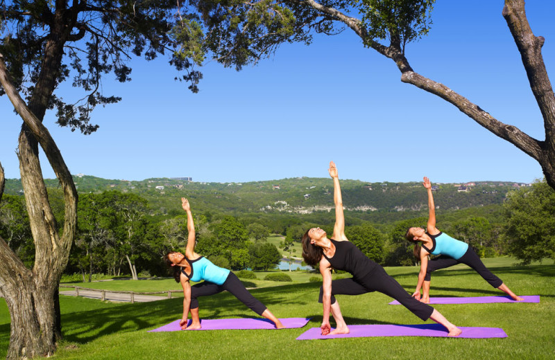 Yoga at Omni Barton Creek Resort & Spa.