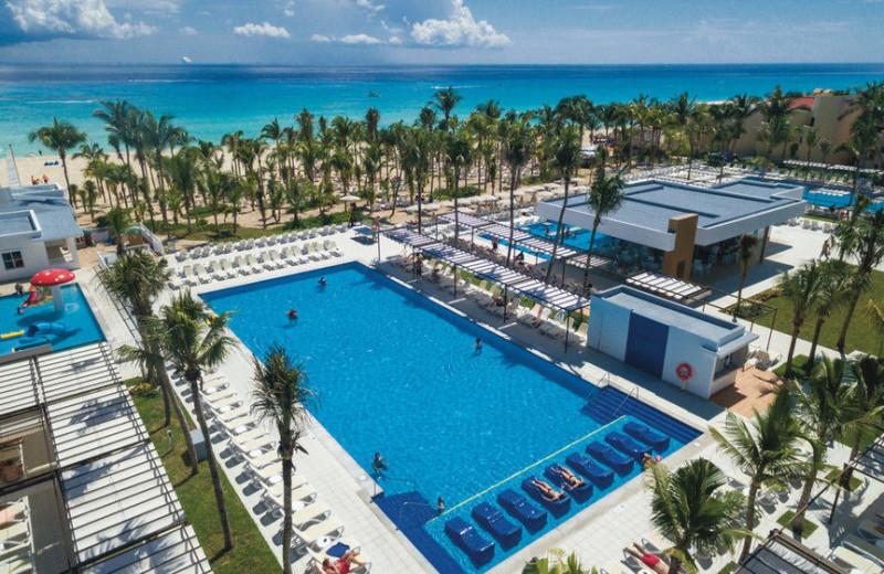 Outdoor pools at Hotel Riu Playacar.