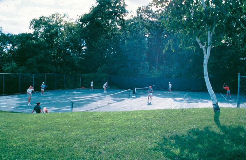 Tennis court at Devils Head Resort & Convention Center.