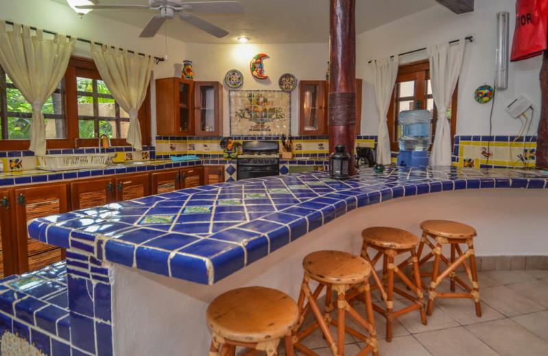 Rental kitchen at Casa Iguana.