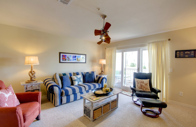 Rental living room at Vacation Homes Perdido Key.