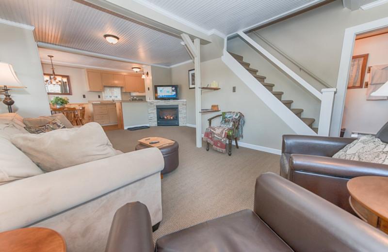 Cottage interior at Placid Bay Inn.