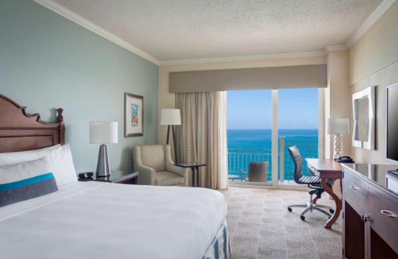 Guest room at Marriott San Juan Resort and Stellaris Casino.