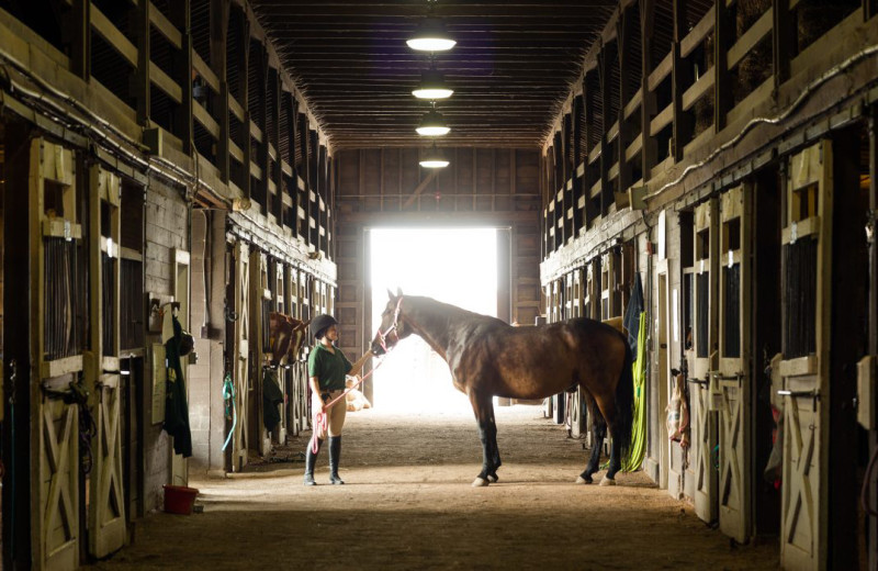 Horse stable at Oglebay Resort and Conference Center.