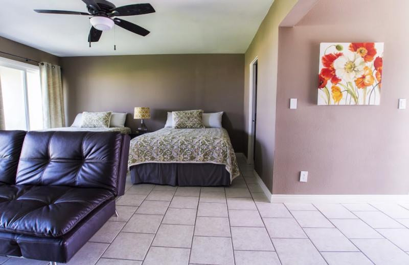 Guest room at Ocean Villa Inn.