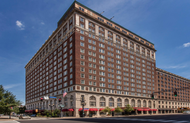 Exterior view of The Brown Hotel.