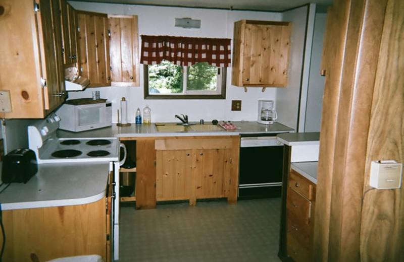 Guest kitchen at Big Musky Resort.