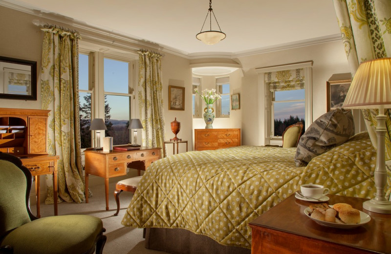 Guest room at Cromlix House.