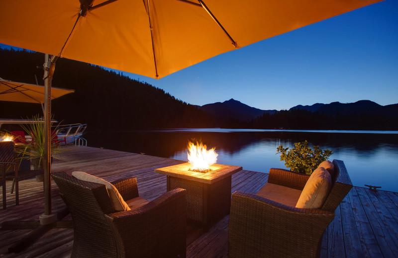 Patio at Nootka Wilderness Lodge.