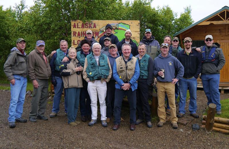 Group at Alaska Rainbow Lodge.