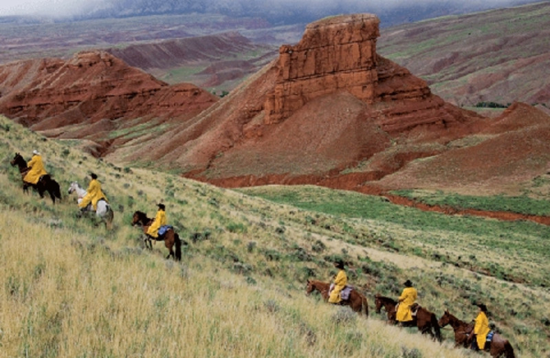 Trail riding at The Hideout Lodge & Guest Ranch.
