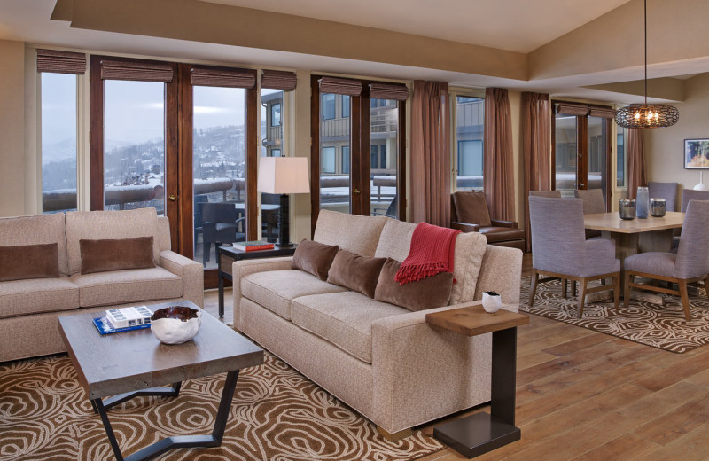 Guest suite at The Westin Snowmass Resort.