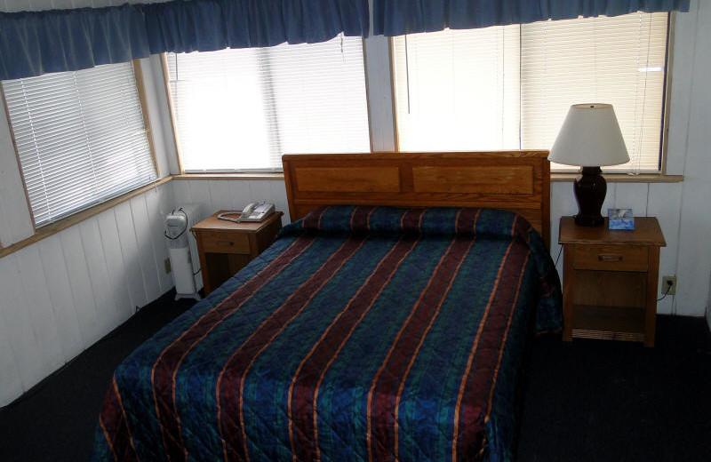 Guest bedroom at Sea Sprite Ocean Front Motel.